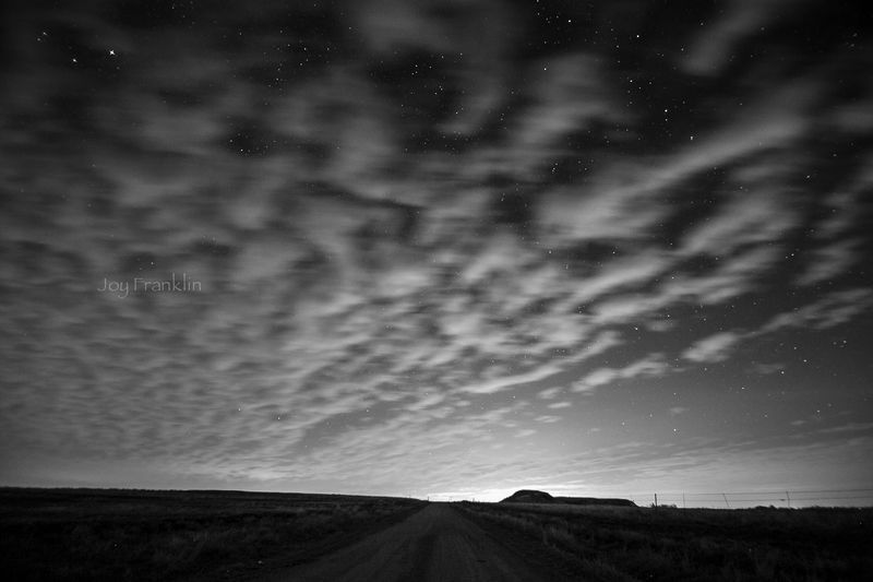 Stars and clouds -9553
